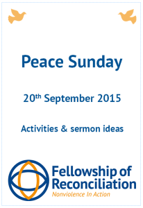 Front cover Peace Sunday 2015