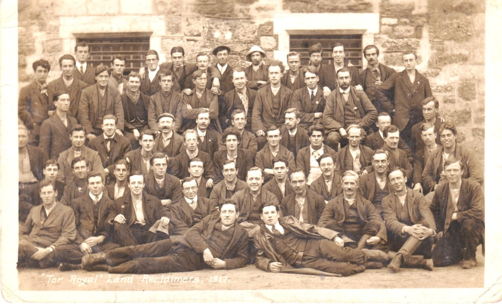 COs at Dartmoor Prison, 1916 (from postcard; artist unknown)